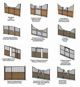 Horse stall fronts/gates. I like the ones that dip so ...