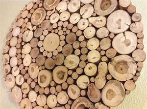 Wood slice wall decor : Images about tree branch decor on