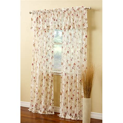 brewster print crushed lace valance boscov s