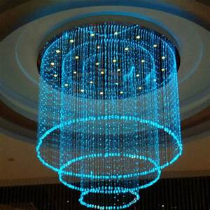 2019 Wholesale Fiber Optic Lamp Colorful Curtain Curtain Cylindrical Crystal Chandelier Fiber