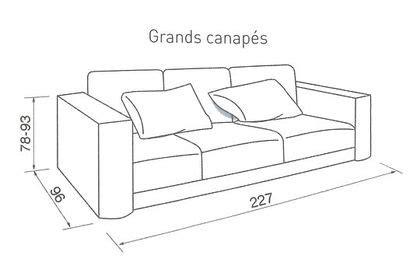 dimension canapé 2 places quelle taille pour mon canapé côté maison