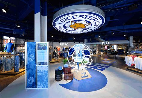 leicester city football club opens  fan store design