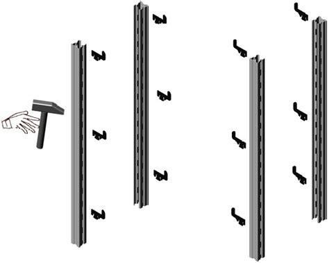 montanti per scaffali assemblaggio fiancata scaffalature magazzino metallo gancio