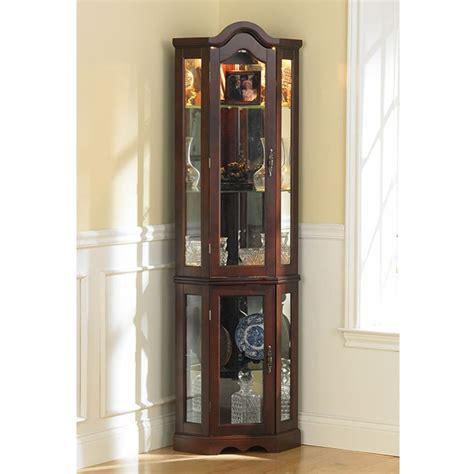 exquisite corner curio cupboard ikearoute homefurniture org