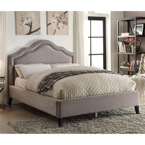 Upholstered Platform Bed Queen Nspire Queen Upholstered