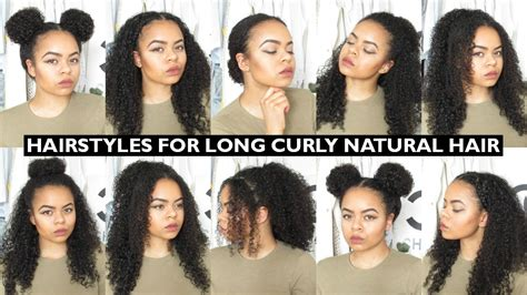 7 easy everyday hairstyles for natural curly hair youtube