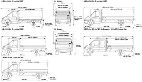 ford transit dimensions blueprints gt cars gt ford gt ford transit 300 350 2008