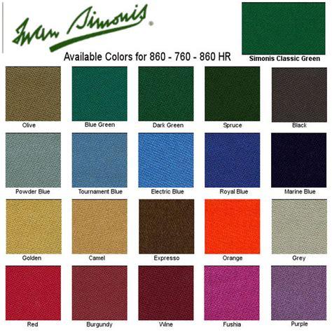 pool table cloth colors iwan simonis felt colors affordable billiard service inc