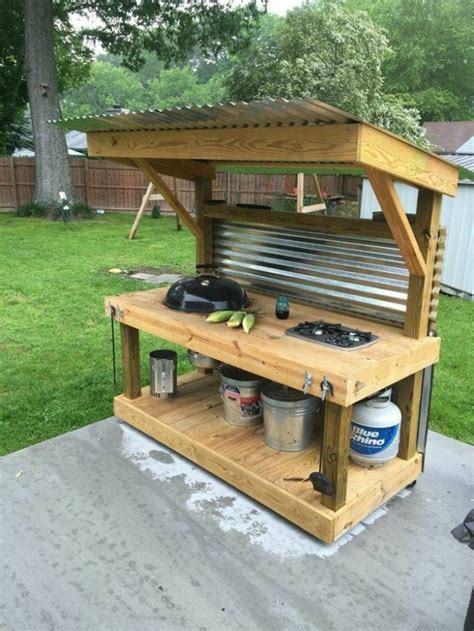outdoor kitchen upcycled pallet outdoor