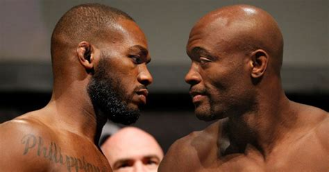 jon jones  anderson silva finally square