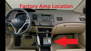 Civic Factory Amp Location  How To Remove  2006 Ex