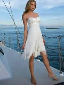 Short Casual Beach Wedding Dress