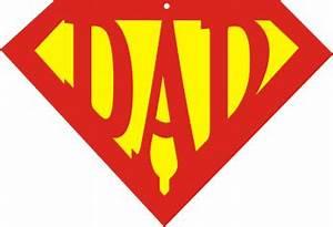 Super Dad Printables | Super Dad Logo | Superman template ...