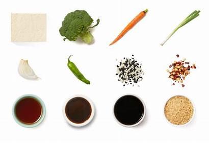 Ponzu Sesame Tofu Vegetables Rice Brown Title