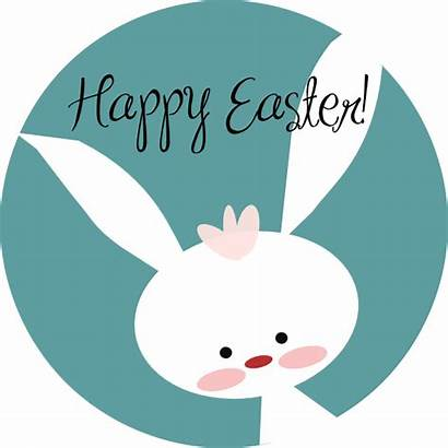 Easter Bunny Clip Happy Clker Clipart Svg