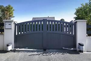 Installateur De Portail Motorisé : trebez portail alu battant motoris kostum ~ Farleysfitness.com Idées de Décoration