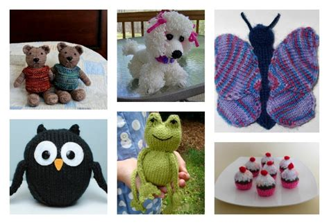 cute knitted toy  patterns  kids  love