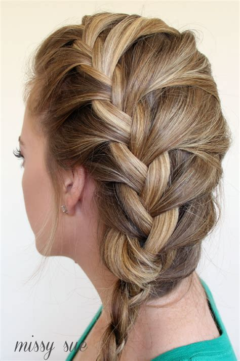 braid 12 french braid and four strand side braid for