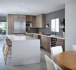 modele de cuisine americaine amnager une petite cuisine With exemple de cuisine ouverte sur salon