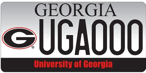 vanity plates ga uga license plates car tags uga alumni association