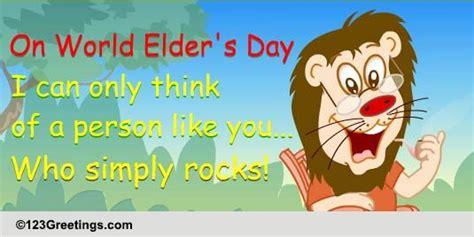 world elders day cards  world elders day ecards greeting cards