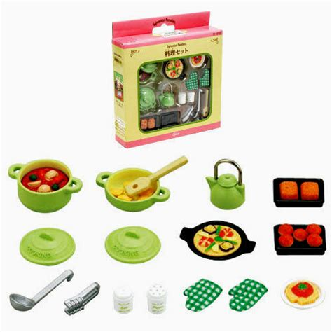 sylvanian family accessory gourmet cuisine food set ebay