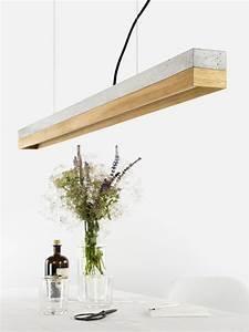 Pendelleuchte Mit Holz : c1 oak pendelleuchte aus eiche und beton designlampe gantlights ~ Whattoseeinmadrid.com Haus und Dekorationen