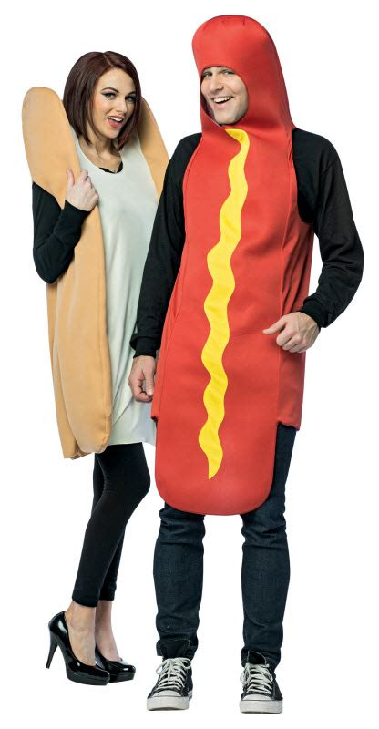 couple hot dog costume hot dog and bun couples costume adult costumes