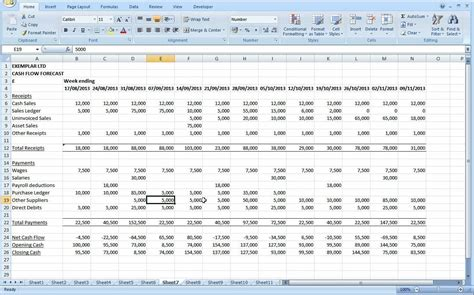 cash flow excel spreadsheet template excelxocom