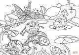 Coloring Pond Colorare Stagno Printable Drawing Disegno Disegni Nello Crafts Adult sketch template