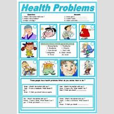 Health Problems And Healthtips  Esl Worksheet By Sruggy