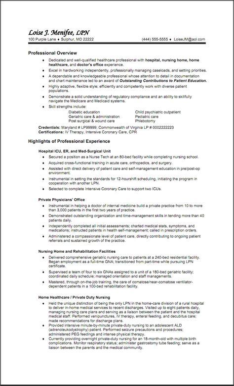 lpn resume templates free resume templates