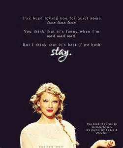 Stay Lyrics Taylor Swift