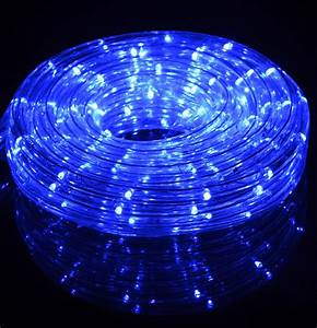 Blue fairy led outdoor string rope light ft clear tube