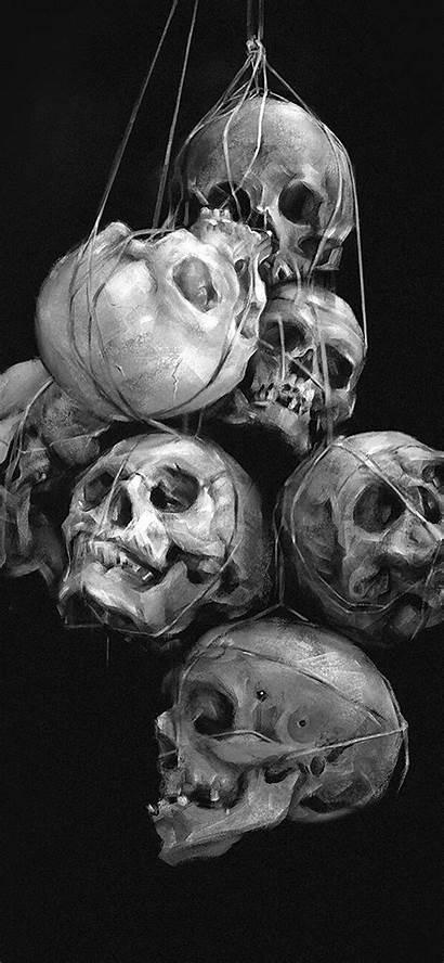 Skull Iphone Wallpapers Dark Phone Skulls Screensaver