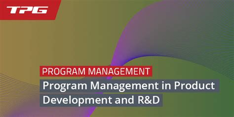 Program Management in Product Development – Recommended ...