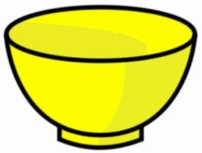 Bowl Clipart Fruit Empty Clip Yellow Bwol