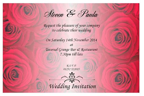 Wedding Invitation Message