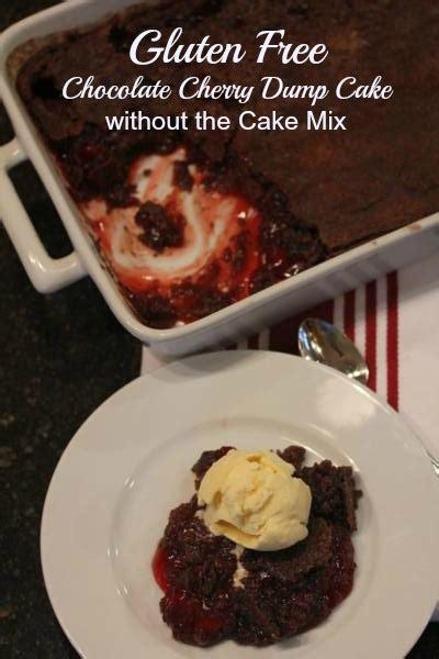 gluten  chocolate cherry dump cake  cake mix
