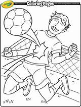Soccer Coloring Crayola Star Pages Fun sketch template