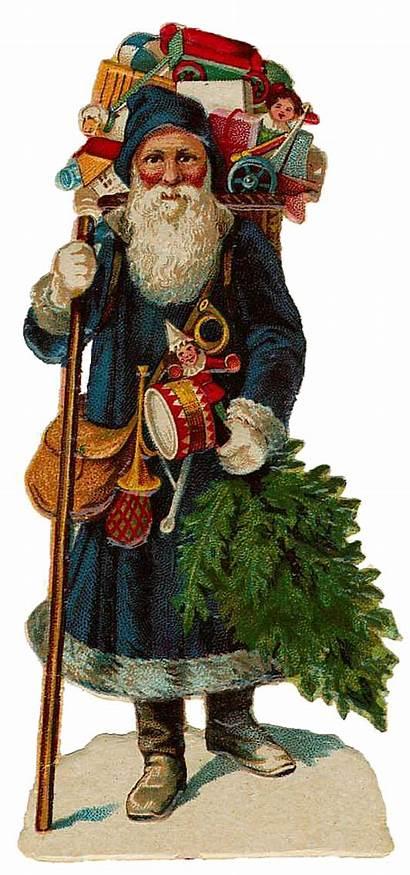 Santa Claus Victorian Clip Cut Graphics Printable