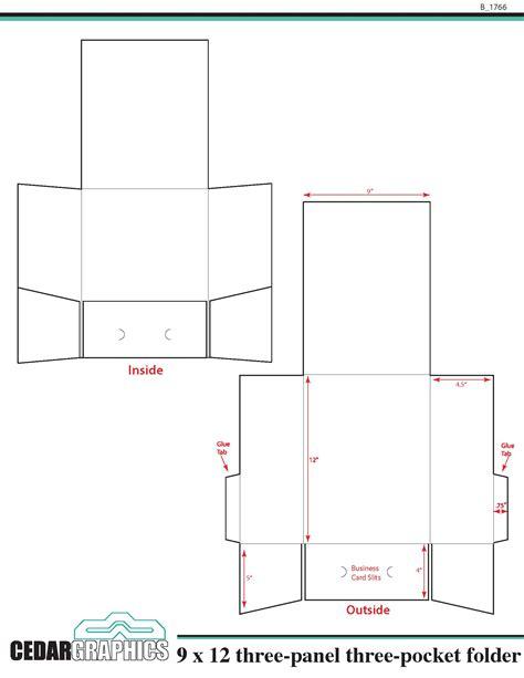 How To Plan A 9 X 12 Threepanel, Threepocket Folder