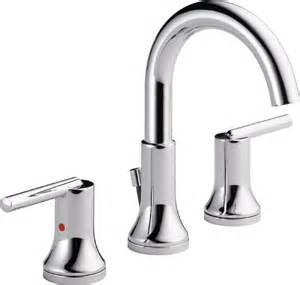 delta 3559 mpu dst trinsic 8 in widespread 2 handle high arc bathroom faucet chrome