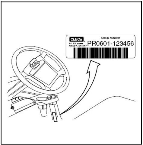 club car serial number location golfcartpartsdirect