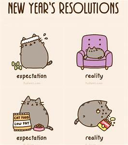 new years resolutions | kitty cat | Pinterest | Pusheen ...