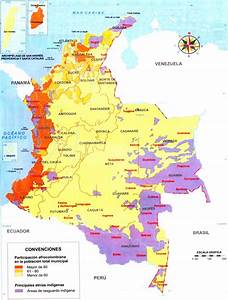 Mapa de Colombia: Ubicación de las comunidades indígenas y