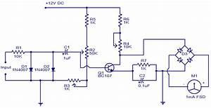 Scematic Diagram  Circuit Diagram Of Tachometer