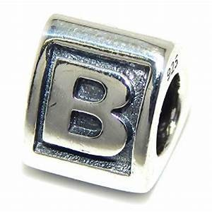 pandora engraved letter b charm With pandora letter b charm