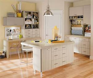 Craft Room Cabinets in Thermofoil - Kitchen Craft Cabinetry