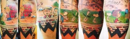 peanuts tattoos  drool  forevergeek
